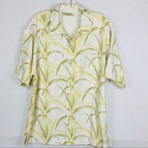 Tommy Bahama 100% Silk button down shirt Hawaiian